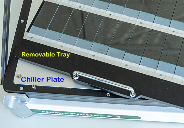 Removable object tray with temperature control
